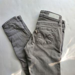 NWOT Levi's grey skinny jeans